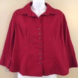 Christopher & Banks Petite Red Jacket Size Large
